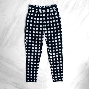 Topshop Square Print Trousers